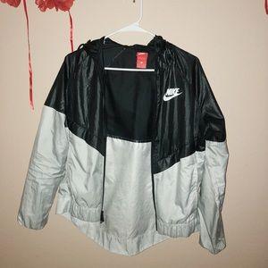 Black + White Nike Windbreaker